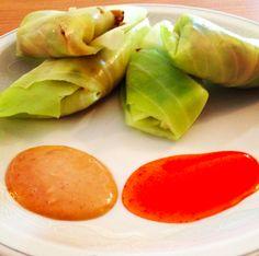 Es un Mundo Vagabundo: Quinoa Chickpea Cabbage Spring Rolls and homemade Vietnamese-style peanut sauce! Eat and travel vegan!