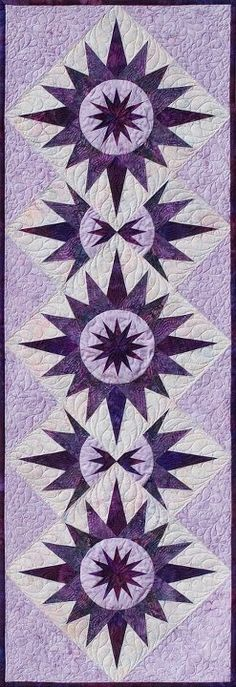 Cactus Table Runner ~ Purple