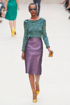 Burberry Prorsum - great skirt fabric and colours