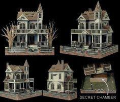 'Ghost House' Paper Model @ Ravensblight