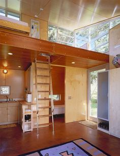 Tiny House Talk - Small Spaces More Freedom | C-3 Cabin (And Plans) 480 Sq. Ft. Modern Loft Tiny Home | http://tinyhousetalk.com