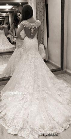 gorgeous back detail on #weddingdress <3