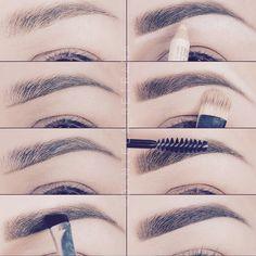 Make Up; Make Up Looks; Make Up Augen; Make Up Prom;Make Up Face; Eyebrow Makeup Tips, Skin Makeup, Makeup Eyebrows, Eyebrow Brush, Eyebrow Growth, Mac Makeup, Eyebrow Sculpting, Eyebrow Pencil, Drawing Eyebrows