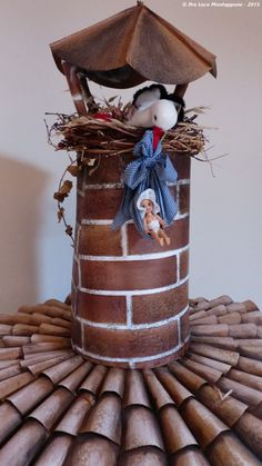 """Name of the hat: """"The stork"""" !  Titolo dell'opera: 'La cicogna' !!  Author: Frontoni Franco.  #HatsDistrict"""