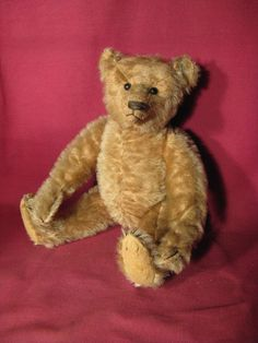 "Antique 12"" Steiff Teddy Bear w Original Button In Ear"