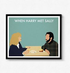 When Harry Met Sally Poster, Minimalist Print