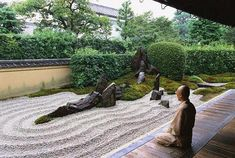 How to design a Zen garden? What are the most important elements in Zen garden design ideas which make a beautiful garden into an Japanese Sand Garden, Zen Rock Garden, Rock Garden Design, Japanese Garden Design, Japanese Gardens, Zen Gardens, Garden Pool, Garden Plants, Desktop Zen Garden