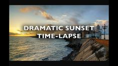 Dramatic Sky at Sunset Cadiz Spain Time Lapse Royalty Free Footage