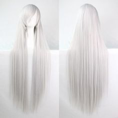 New Fashion Womens Multicolor Long Straight Wig Anime Cosplay Party Wig  80 100cm 71ae82fa3877