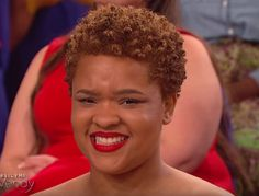 I had to screen shot this Wendy Williams audience member's gorgeous hair! #twa #cutandcolor <3
