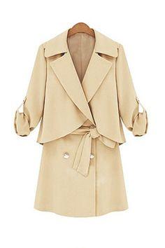 Coat cintura risvolto Stile elegante