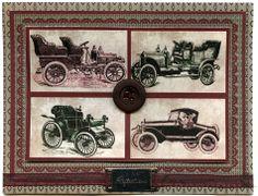 Vintage Cars card - (Dyan Cross - http://www.pinterest.com/dyancross)