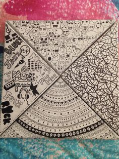 Drawings on canvas