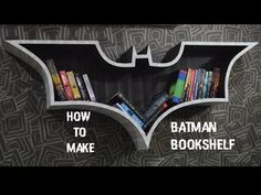 How To Make Batman Bookshelf DIY - YouTube