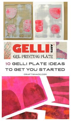10 Gelli Plate printing ideas • printmaking is fun!