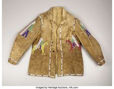 Find out with our FREE auction evaluation or view our current and previously auctioned artwork at Heritage Auctions. Native American Clothing, Native American Beadwork, Native American Indians, Native Americans, Male Clothing, Native Beadwork, American Indian Art, American Pride, Sioux