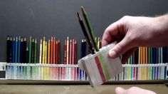 How To Organize Your Prismacolor Colored Pencils Colored Pencil Storage, Colored Pencil Holder, Coloured Pencils, Pencil Holders, Coloring Tips, Adult Coloring, Coloring Books, Crayon Prismacolor, Custom Pencils