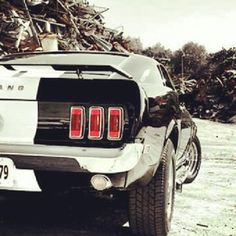 Back side view of the beautiful Ford Mustang!