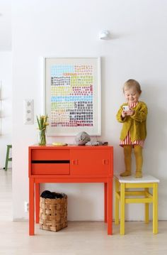 great colors and cute baby