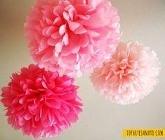 Como fazer flor de papel de seda - Como fica