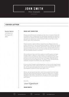 Sleek Resume Template Cover Letter