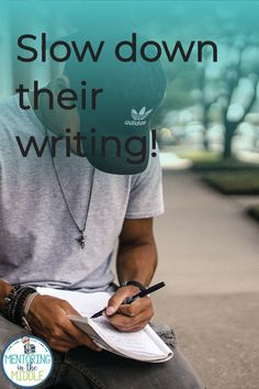 Do you find your upper elementary and middle school students rushing through writing? They start by introducing the characters and the setting and then they're off to the races? Here are some things I've done with my students to help them create more authentic voices. Plus you can download a helpful freebie! Writing Strategies, Writing Resources, Teaching Strategies, Writing Activities, Writing Skills, Nonfiction Activities, Secondary Resources, Writing Ideas, Paragraph Writing