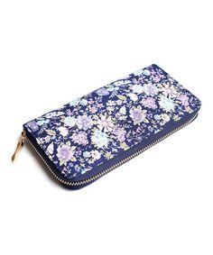 Another great find on #zulily! Purple Floral Zip Wallet #zulilyfinds