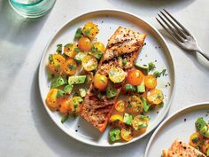 Make This Grilled Salmon With Tomato-Avocado Salsa In 20 Minutes Recipe - Cooking Light