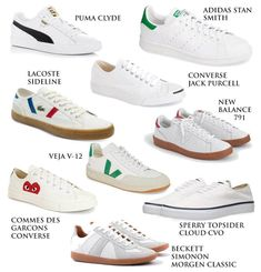 Nine white sneaker alternatives to the popular Nike Killshot 2 for J. Crew ideal for men's casual style and fashion. White Sneakers Nike, Sneakers Outfit Men, Winter Sneakers, Dress With Sneakers, Casual Sneakers, Leather Sneakers, Sneakers Fashion, Fashion Shoes, Superga Sneakers