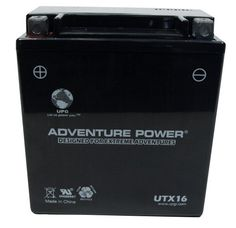 UPG UTX16 Adventure Power Power Sport AGM Series Sealed AGM Battery Provides maintenance free battery solutions. Recycles gases internally during operation and charging. Eliminates gassing while charging. Maintains reliable voltage. This item is not for sale in Catalina Island.  #UPG #Automotive_Parts_and_Accessories