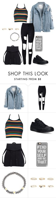 """chop suey."" by shay-trio-of-three-o on Polyvore featuring Converse, Violeta by Mango, Casetify, Monsoon and River Island"