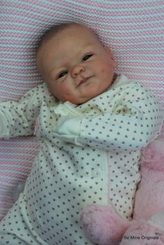 Stunning Precious BM Originals Reborn Fake Baby Girl Doll Coco Marx  With Special 3D wrinkled skin