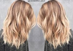 Medium Length Blonde Balayage - Samantha Cusick
