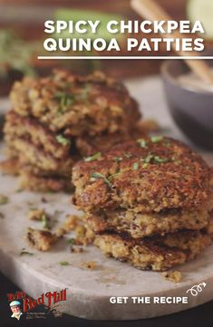Looking for something delicious, quick and easy for meatless Monday? These healthy vegetarian quinoa patties are full of protein to help keep your energy high. Interested in more dinner recipes like this? Visit BobsRedMill.com to see all of the amazing options for your family: Vegan Vegetarian, Vegetarian Recipes, Healthy Recipes, Chickpea Patties, Patties Recipe, Meatless Monday, Appetizers For Party, Quinoa, Healthy Eating