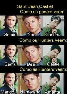 Jared, Jensen e Misha Dean Castiel, Sam E Dean, Supernatural Series, Supernatural Funny, Spn Memes, Funny Memes, Winchester, America Memes, Disney Marvel
