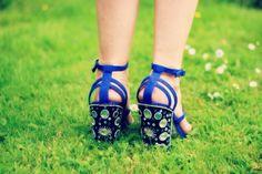 Topshop blue jewelled shoes Topshop, My Style, Heels, Blue, Beauty, Fashion, Heel, Moda, Fashion Styles