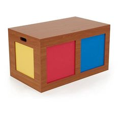 tot tutors dark pine with primary colors toy box tot tutors toys r - Tot Tutors Book Rack Primary Colors
