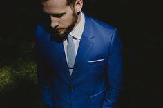 Brooklyn NYC Wedding Photographer Indie Bohemian Bride Maple Shade Farm Royal Blue Suit Groomswear Bindle & Keep