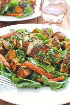 Roasted Moroccan Chicken Salad