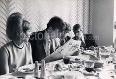 Lunch with fans at Leeds 1964