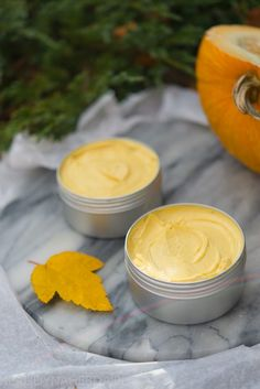 Nourishing pumpkin body butter with seabuckthorn oil