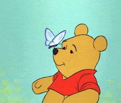 disney gifs | bear, butterfly, cute, disney, gif