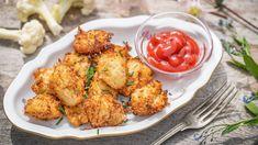 Dlouho očekávaná sezona květáku je tu! Nenechte si ujít to nejlepší ztéhle skvělé zeleniny auvařte sobě irodině něco dobrého. Pusťte se do květákových kroket se sýrem amandlemi, skvělé jsou ijen tak na mlsání. Cauliflower, Dip, Low Carb, Vegetables, Ethnic Recipes, Food, Salsa, Cauliflowers, Essen