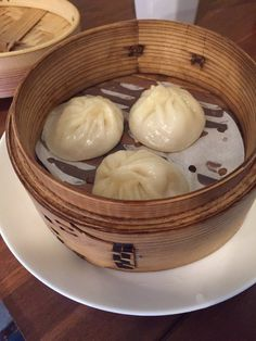 小籠包cafe 千 - 世田谷区, 東京都, Japan. 3 Xiao Long Bao (shouronpou) dumplings
