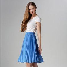 Pleated Spring/Autumn 2017 European Style Skirt
