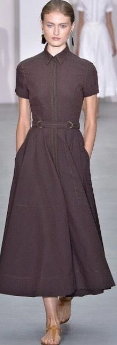 Long Black Pencil Skirt, Shirt Dress, Brown, Skirts, Dresses, Women, Fashion, Gowns, Moda