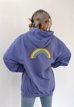 G&G Unisex Violet Rainbow Hood