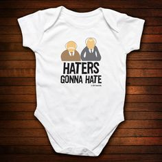 Haters Gonna Hate One Piece Bodysuit - Funny Baby Gift