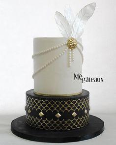 On aime les mariages gatsby! Cest tellement chic les années 20! #megateaux #mégâteaux #weddingcake #gatsby #gatsbywedding #gatsbycake #gatsbyweddingcake #mariage_chic_magasine #modernkake #cake_trends