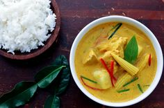 yellow curry with chicken and potato